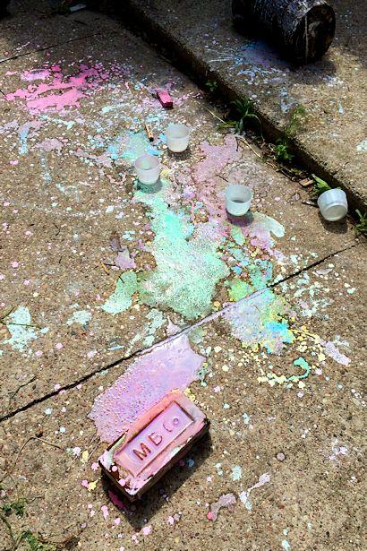 Make Sidewalk Chalk Paint - Painted Fun