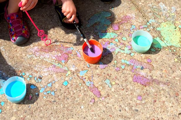 Make Sidewalk Chalk Paint - Paints