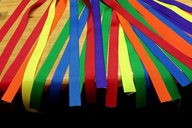 Make Waldorf Hand Kite - Cut Ribbons