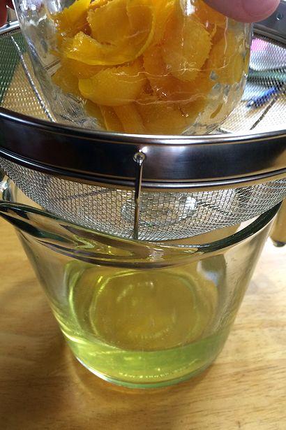 Meyer Lemon Margarita Recipe - Straining the Tequila