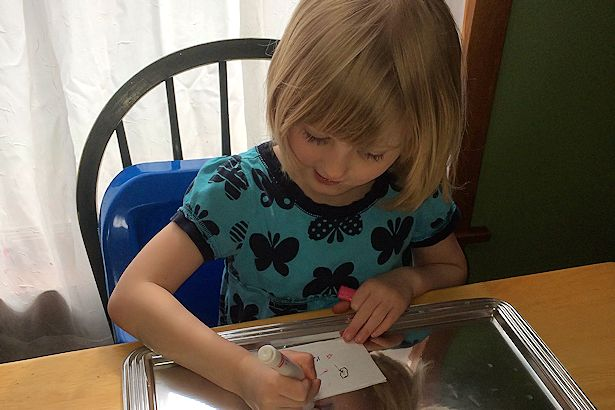 Mother's Day Craft Candle - Drawing