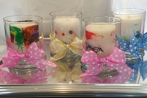 Mother's Day Craft Candles