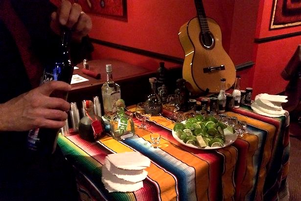 Solea Tequila Dinner February 2014 - Tequila Table