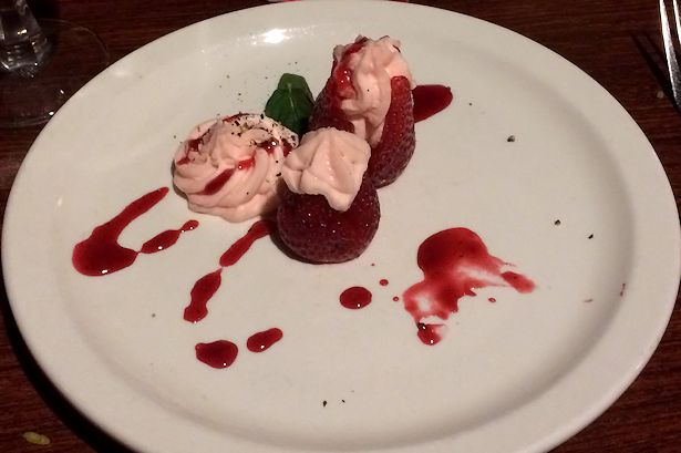 Solea Tequila Dinner February 2014 - Strawberries with Cheesecake