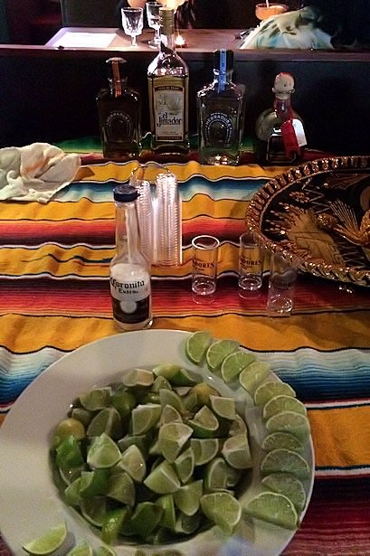 Solea Tequila Dinner July 2014 - Tequila Table