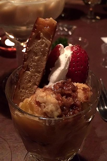 Solea Tequila Dinner July 2014 - Peach Bread Pudding