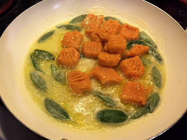 Sweet Potato Gnocchi - Add to Butter