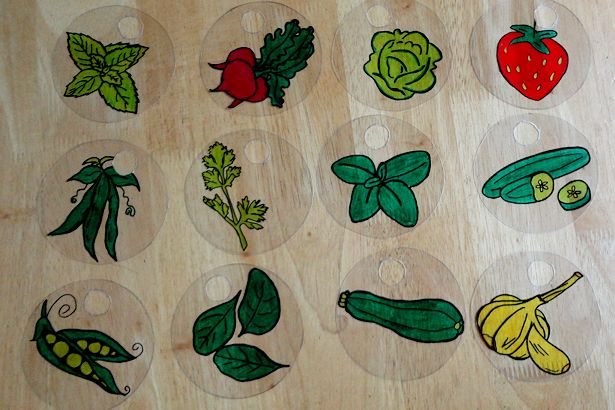 DIY Plant Marker Shrinky Dink - Ready to Bake