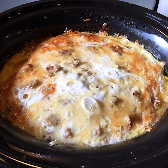 Easy Crock Pot Breakfast Casserole Recipe - Done