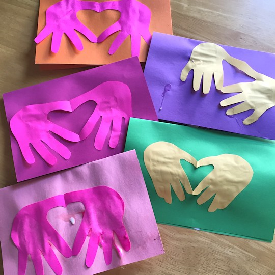 Homemade Mother's Day Card 2015 - Handprints