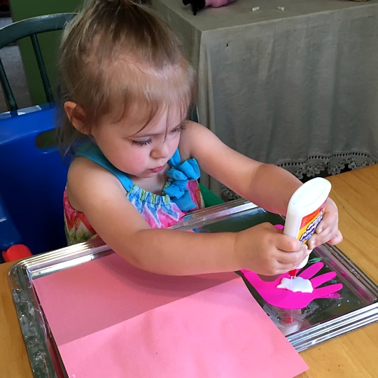 Homemade Mother's Day Card 2015 - Gluing