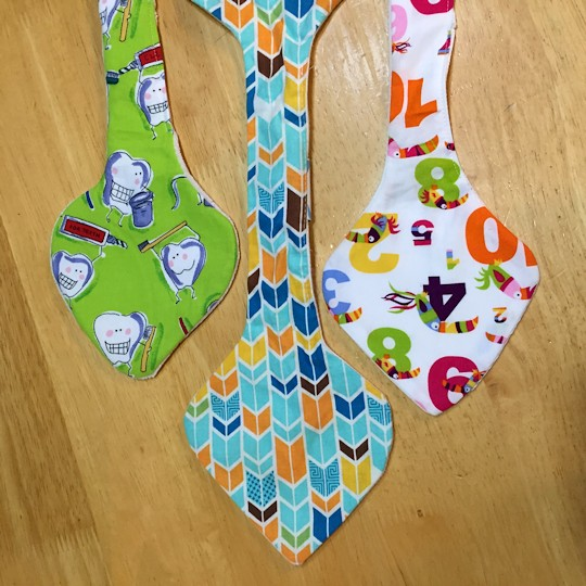 Natural Wood Teether - Three Fabric Sections