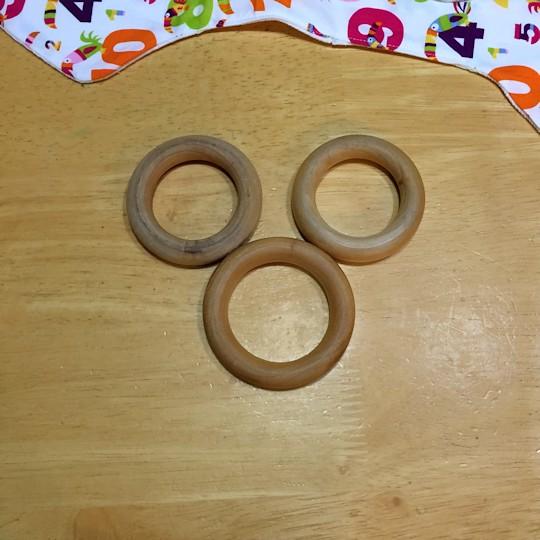 Natural Wood Teether - Wood Rings