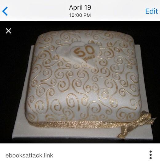 Anniversary Picnic Cake Idea