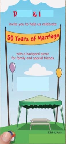 Anniversary Picnic Invitation