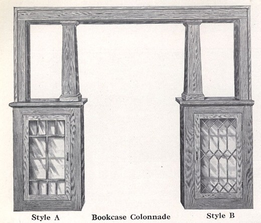Bennett Catalog Woodwork - Book Case Colonnade
