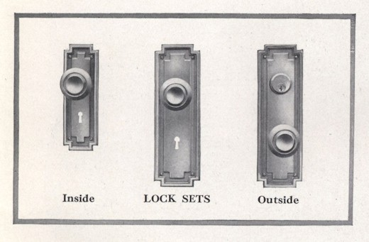Bennett Catalog Woodwork -Lock Sets
