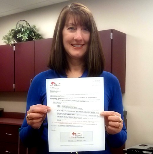 Family Child Care Credential - Me with Certificate
