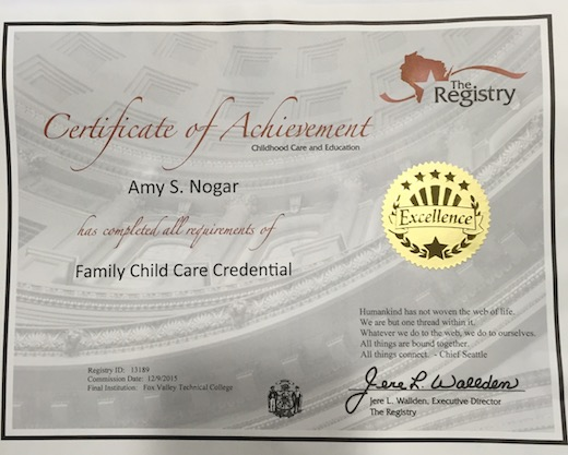 Family Child Care Credential - Certificate