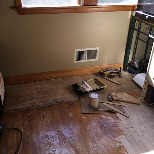 Floor Redo - Day Six & Seven - Kitchen Wall