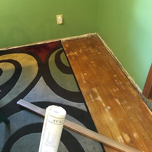 Floor Redo - Day Six & Seven - Dining Room