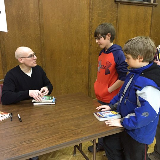 Gordon Korman - Boys Getting Books Signed
