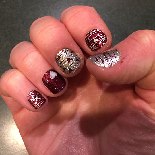 More Jamberry Nails - Valentine's Nails