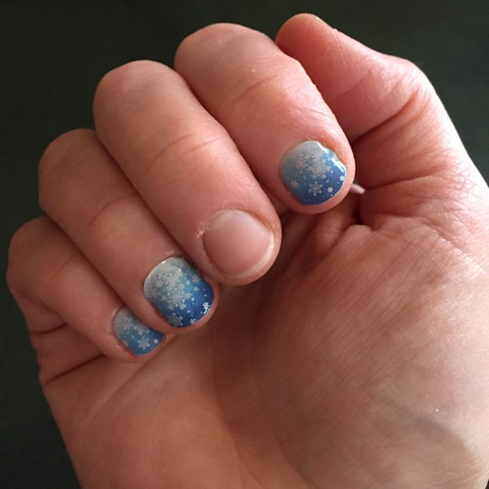 More Jamberry Nails - Snowflake