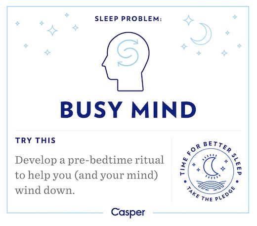 Sleep Problems - Busy Brain