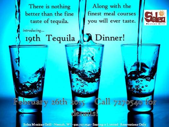 Solea Tequila Dinner February 2015 - Invitation
