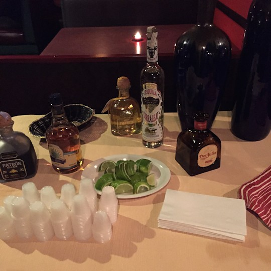 Solea Tequila Dinner February 2015 - Tequila Table