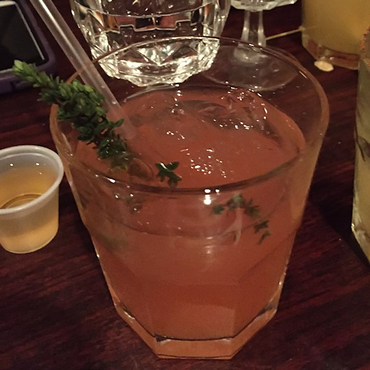 Solea Tequila Dinner February 2015 - Raspberry Thyme Margarita