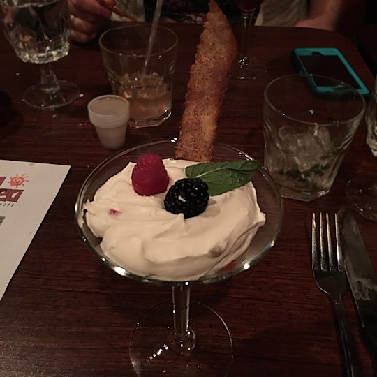 Solea Tequila Dinner February 2015 - Berries and Cream