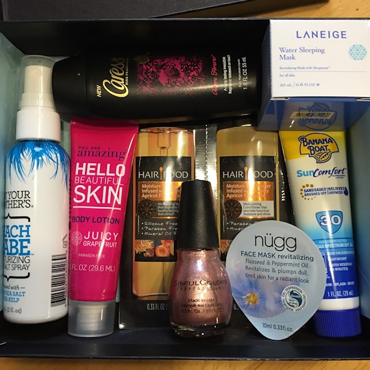 Target Beauty Box March 2016 - Samples