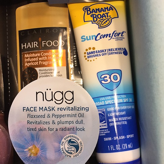 Target Beauty Box March 2016 - Face Mask and Sunscreen