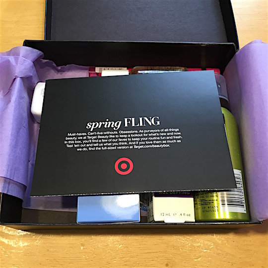 Target Beauty Box May 2016 - Tissue