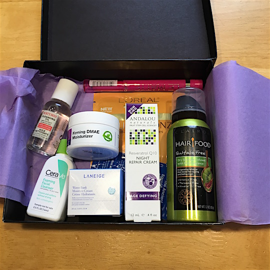 Target Beauty Box May 2016 - Samples