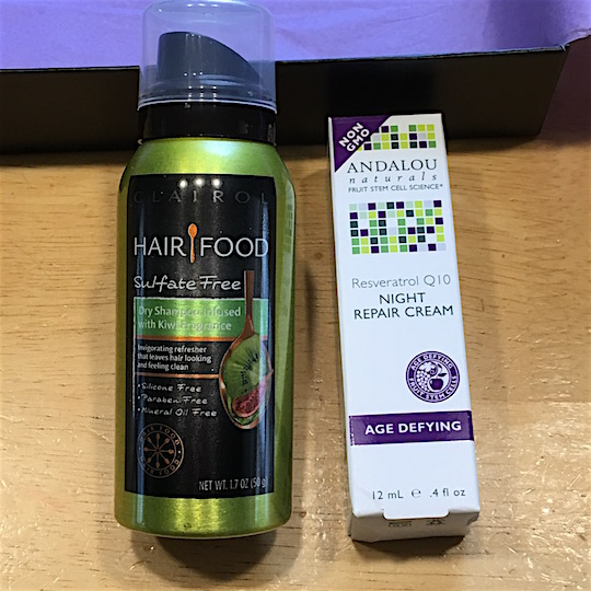 Target Beauty Box May 2016 - Dry Shampoo & Night Repair Cream