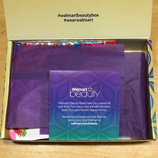 Walmart Beauty Box Fall 2016 - Box Inside
