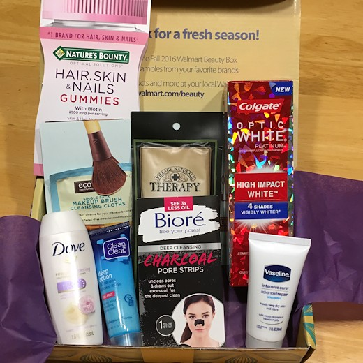 Walmart Beauty Box Fall 2016 - All Products
