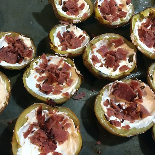 Jalepeno Popper Potato Skins - Add Bacon