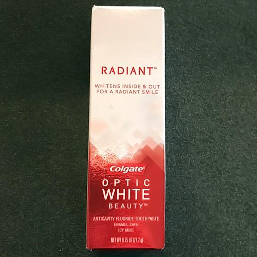 Walmart Beauty Box Spring 2017 - Colgate Optic White Toothpaste