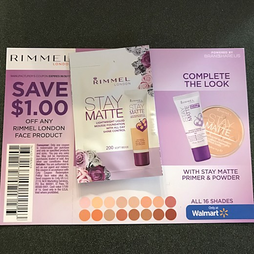 Walmart Beauty Box Spring 2017 - Rimmel Stay Matte Foundation