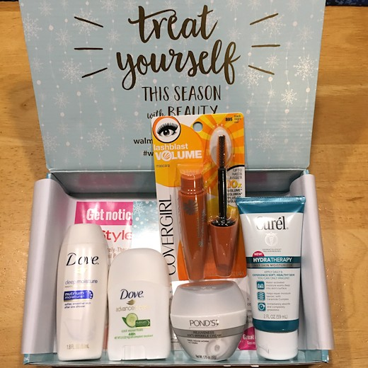 Walmart Beauty Box Winter 2016 - All Samples