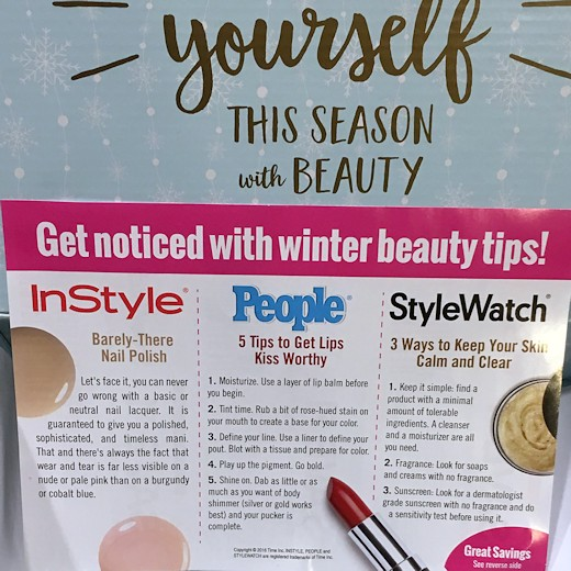 Walmart Beauty Box Winter 2016 - Coupon